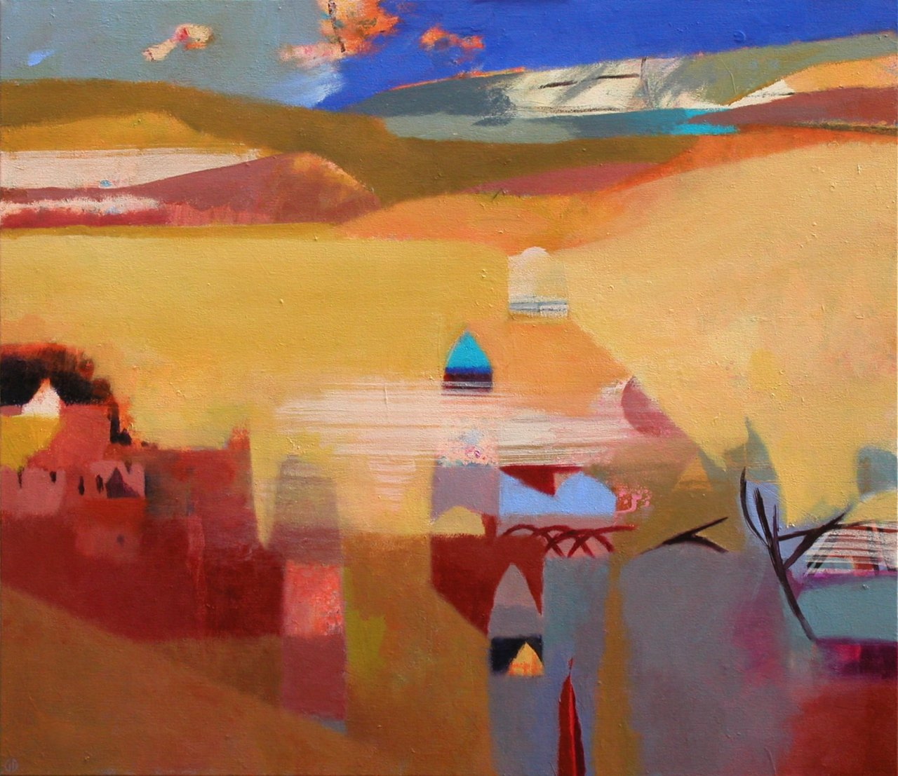 Gerry Dudgeon Berber Village 66 x 76 cms