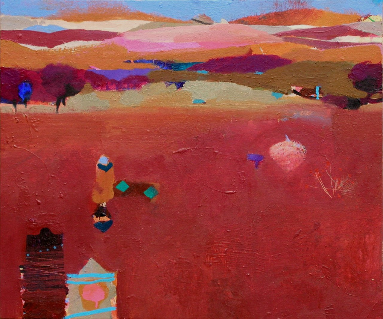 Gerry Dudgeon Early Snow, Morocco 51 x 61 cms