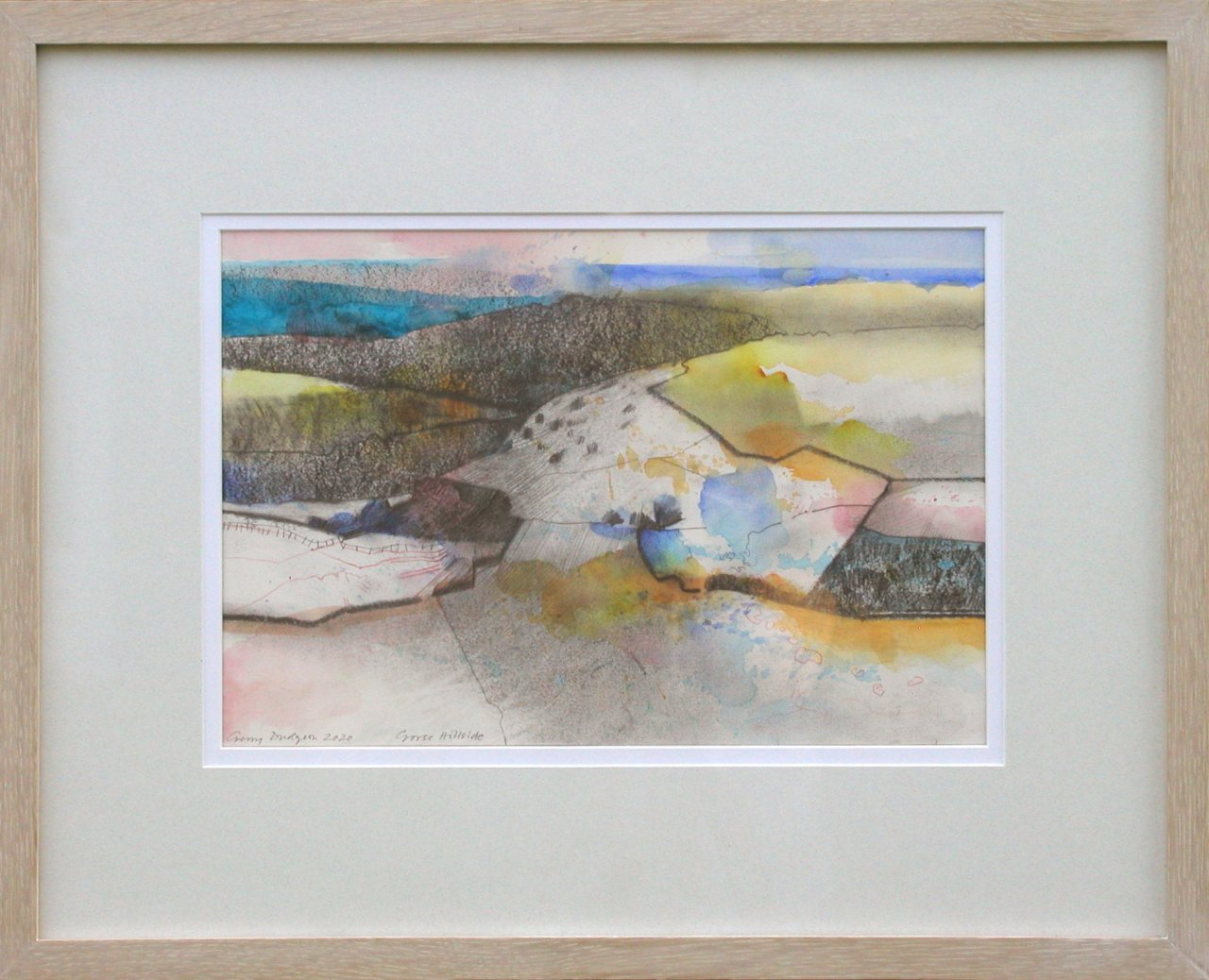 Gerry Dudgeon Gorse Hillside (framed)